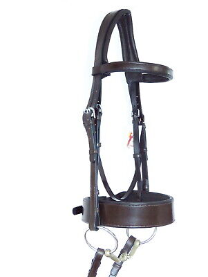 REDUCED QUALITY LEATHER HUNTER CAVESSON BRIDLE WIDE NOSEBAND IN BLACK ALL SIZES