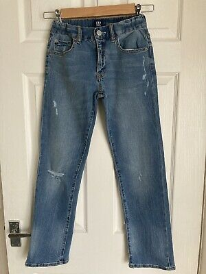 Gap Kids boys Stretch Straight Fit Jeans Size 12 Years, Adjustable Waistband VGC