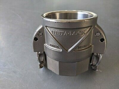 """New Continental D200Ss Insta-Lock Cam & Groove 2"""" Stainless Steel Coupling"""