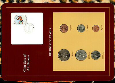 Coin Sets of All Nations Zambia 1968 - 1983 UNC 20 Ngwee 1968 15 OCT 84