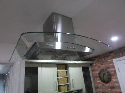 Prima PRCG006 90cm Glass Chimney Cooker Hood Stainless Steel