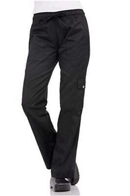 Chef Works Women's Cargo Chef Pants, Black, Size 3.0 7VE5