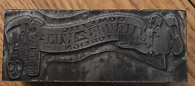 Vintage printing plate Foreign Wine And Spirits Engraved