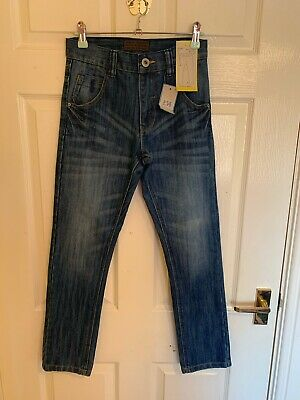 BNWT Blue Denim Next Skinny Fit Adjustable Waist Jeans Age 11 Years 10/11 11/12