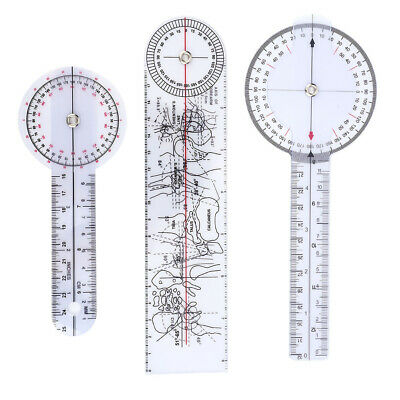 3Pcs 6/8/10inch 360 Degree Protractor Angle Ruler Spinal Goniometer HQ