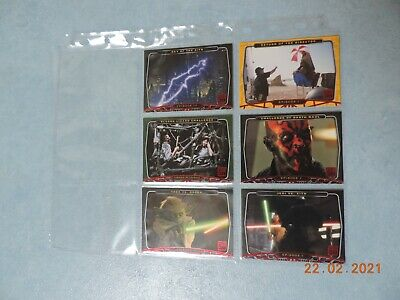 Star Wars 30th Anniversary Topps 6 Red Foil Stamped Parallel Base Card