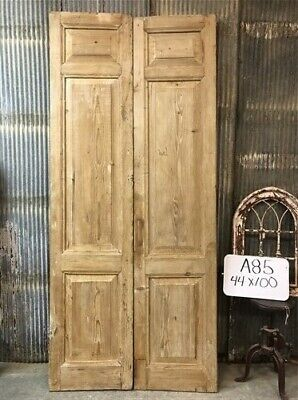 Tall Pair Antique French Double Doors, Raised Panel Doors, European Doors A85