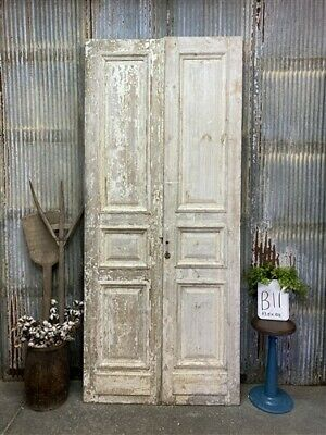 Thick Molding, Antique French Double Doors, European Doors, Tall Pair B11