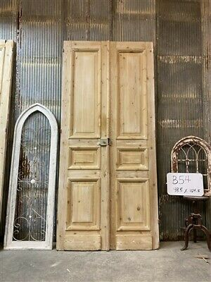Thick Molding, Antique French Double Doors, European Doors, Tall Pair B54