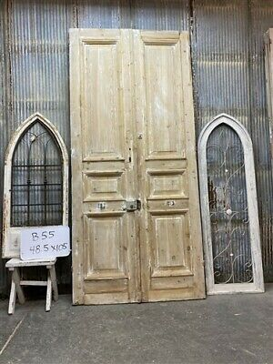Thick Molding, Antique French Double Doors, European Doors, Tall Pair B55