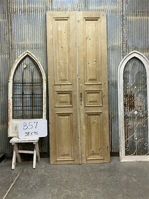 Thick Molding, Antique French Double Doors, European Doors, Tall Pair B57