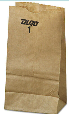 Duro Grocery Bag Kraft Paper 1lb 500 Count 30# BW Recycled Duro ID 18401