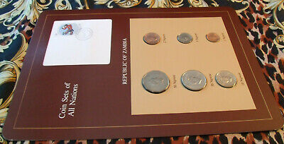 Coin Sets of All Nations Zambia 1972 - 1983 UNC 10,5 Ngwee 1982 20,50 Ngwee 1972