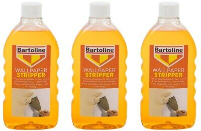 3 x Bartoline Wallpaper Stripper Fast acting Formula & Easy To Use 500ml