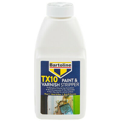 Bartoline TX10 Paint & Varnish Stripper Fast acting Formula & Easy To Use 500ml