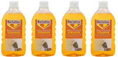 4 x Bartoline Wallpaper Stripper Fast acting Formula & Easy To Use 500ml