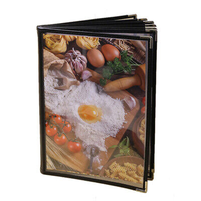 Transparent Restaurant Menu Covers for A4 Size Book Style Cafe Bar 8 Pages P4N1