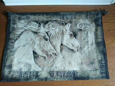 XL VTG Large Andalusian Arabian HORSE Painted Sculpture Wall Art tapestry bust