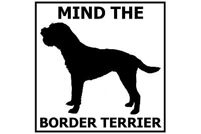Mind the Border Terrier - Gate/Door Ceramic Tile Sign