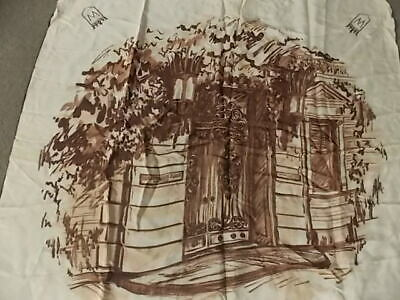 """Cool vtg Hiram Walker Home Of Canadian Club scarf table cover 30"""""""