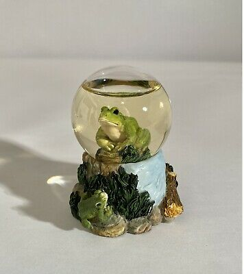 Herco Gift Professional ~ Miniature Frog Glitter Snow Globe  Excellent Condition
