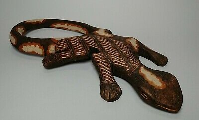 Lizard / Gecko Hand Carved of Lightweight Wood & Painted