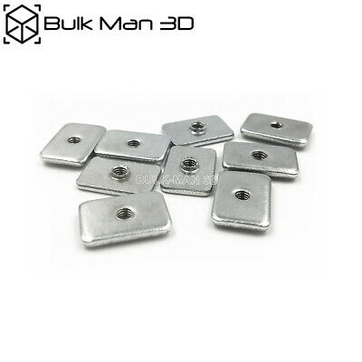 25pcs/lot Carbon Steel M3/M5 Tee Nuts Zinc Plated for V-Slot Aluminum Profile