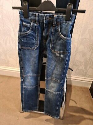 Boys Denim Ripped Jeans With Adjustable Waist Age 7 Years Matalan