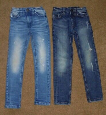 Next Boys Stylish Skinny Distressed Denim Jeans Age 4 Years
