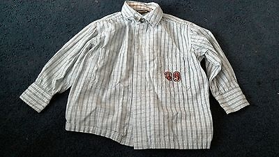 Baby Boys H&M Light Blue Checked Long Sleeved Shirt Age 18 months