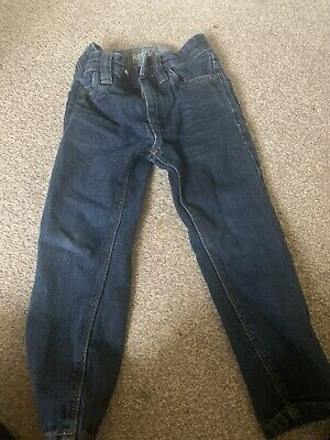 Next Boys Straight Blue Denim Jeans With Adjustable Waist Age 3 Years
