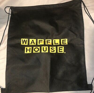 Just In Brand Spanking New Black & Yellow Waffle House Drawsting Bag