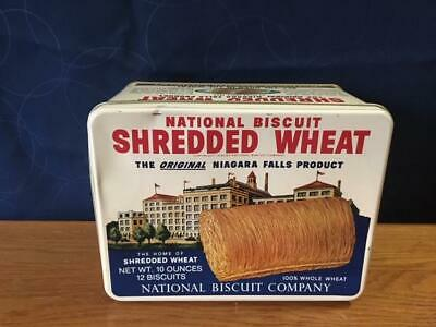 Vintage National Biscuit Embossed Shredded Wheat Tin 1987 Reproduction