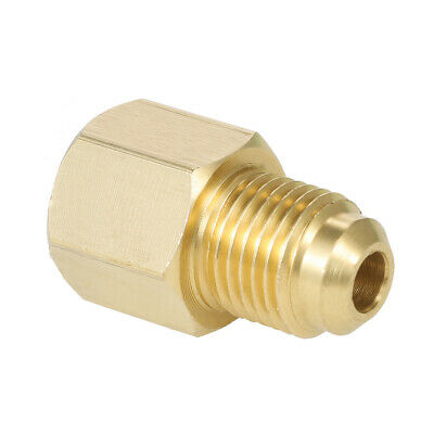 """R134A Refrigerant Tank/Vacuum Pump Adapter to R12 Fitting Adapter 1/2"""" E9G5"""