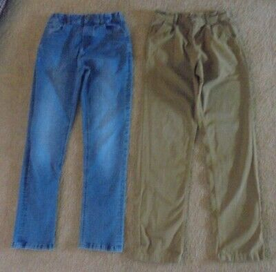 BOYS STYLISH DENIM JEANS & CHINOS AGE 12-13 YEARS - M&S & M&Co