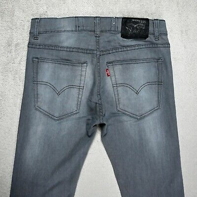 Boys LEVIS 519 Extreme Skinny fit Jeans Size 16 YEARS Stretch denim faded grey