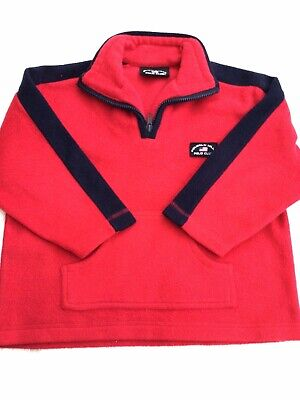 Boys Beverley Hills Polo Club Red Fleece Jumper 4-5 Years Ex. Cond