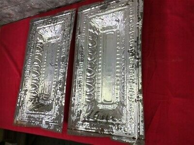 2 Ceiling Tin Panels, Vintage Reclaimed Molding, Architectural Salvage A19,