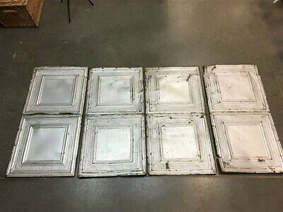4 Ceiling Tin Panels, Vintage Reclaimed Molding, Architectural Salvage A29,