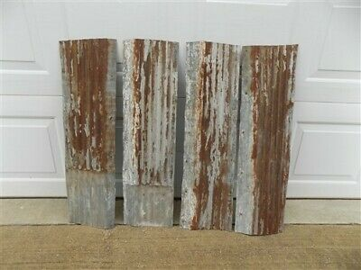 4 Galvanized Tin Sheets, Roof Ceiling Sink Backsplash, Architecture Salvage e,