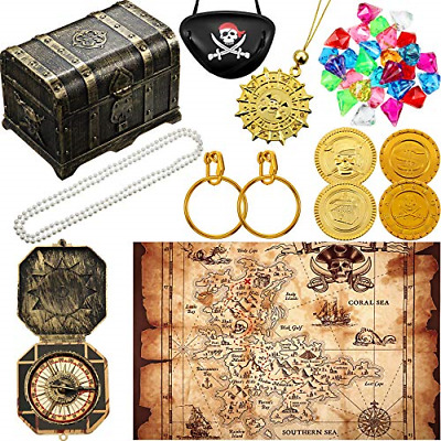 Pirate Treasure Chest Toy Kit Vintage Pirate Treasure Chest Pirate Eye Patch Toy