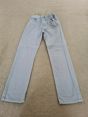 Boys Regular Fit Chino Jeans Blue Age 7-8 Years H&M Soft Feel Adjustable Waist