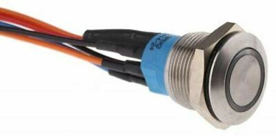 Single Pole Double Throw (SPDT) Momentary Push Button Switch, IP67, Panel Mount
