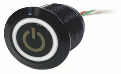 Push Button Touch Switch, Momentary, NO,Illuminated, Blue, White, IP68 Brass, 5