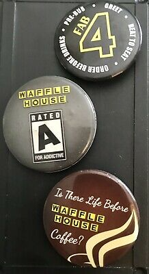 Vintage Waffle House Pins Lot of 3