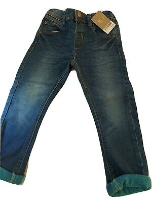 Next Jeans 2-3yrs blue. Bnwt boys jeans with adjustable waist. Turn ups Were £13