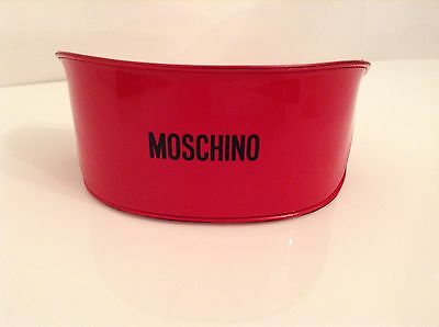 BN 100% auth Moschino, Red Hard glasses / sunglasses case With Logo.