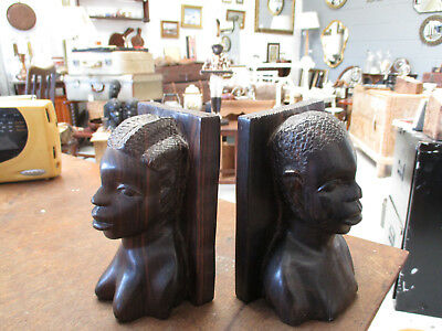 African Head Book Ends