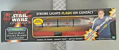 Hasbro DARTH MAUL Double-Bladed Lightsaber BOXED. Phantom Menace- Episode 1
