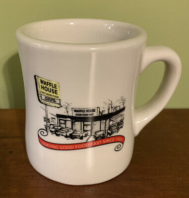 2012 Waffle House Retro Heavy Coffee Mug Cup Serving Good Food Fast Since 1955